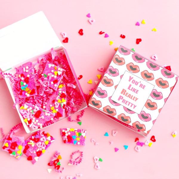 You're Like Really Pretty free printable Valentine's Box