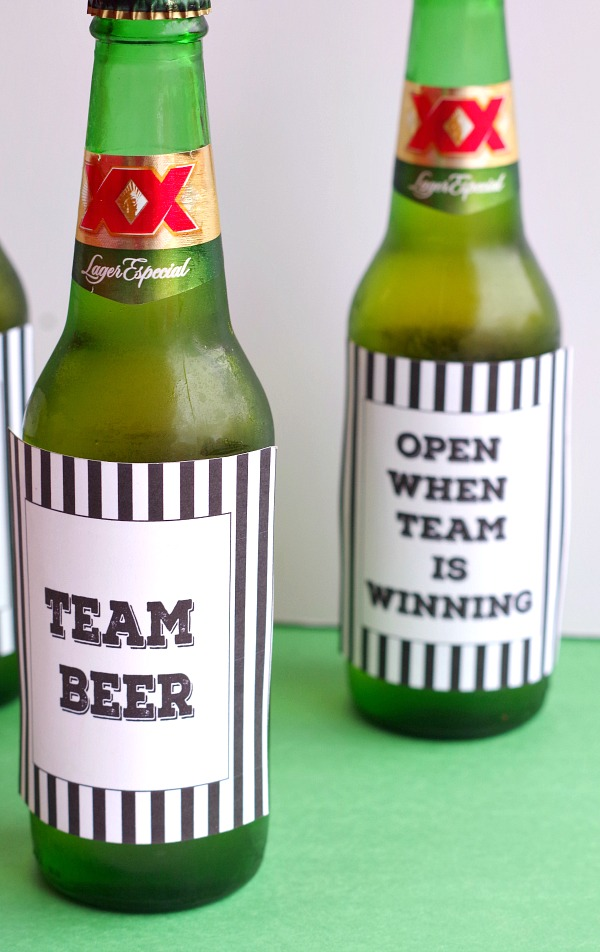 Team Beer Printable Label