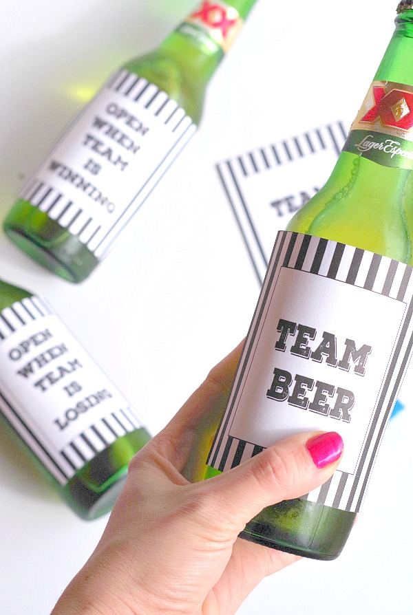 Team Beer plus more free printable sports beer labels