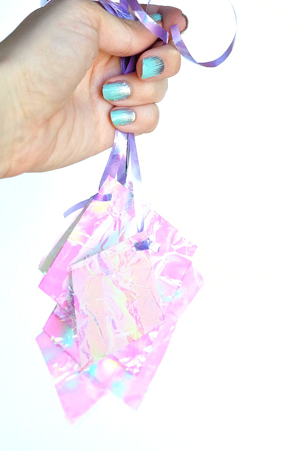 Pretty Hanging Iridescent Diamond Party Decor