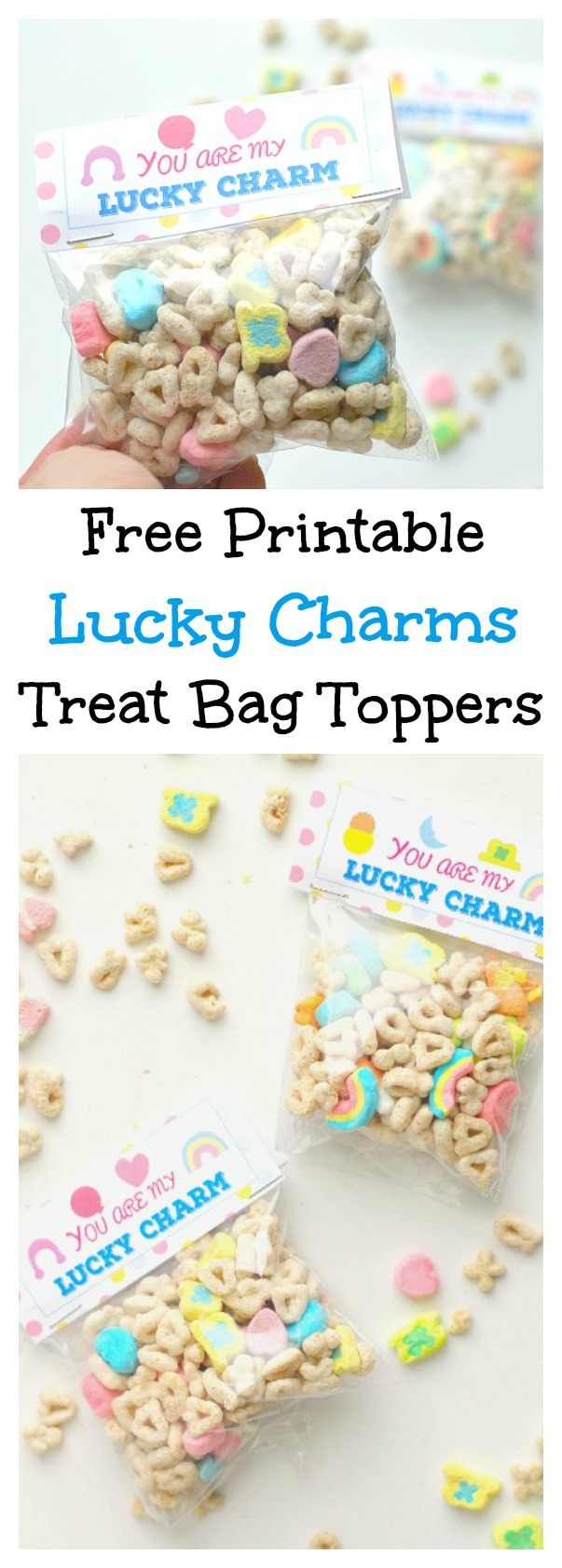 picture regarding Free Printable Treat Bag Toppers known as No cost Printable Fortuitous Enchantment Handle Bag Toppers Val Party Gal