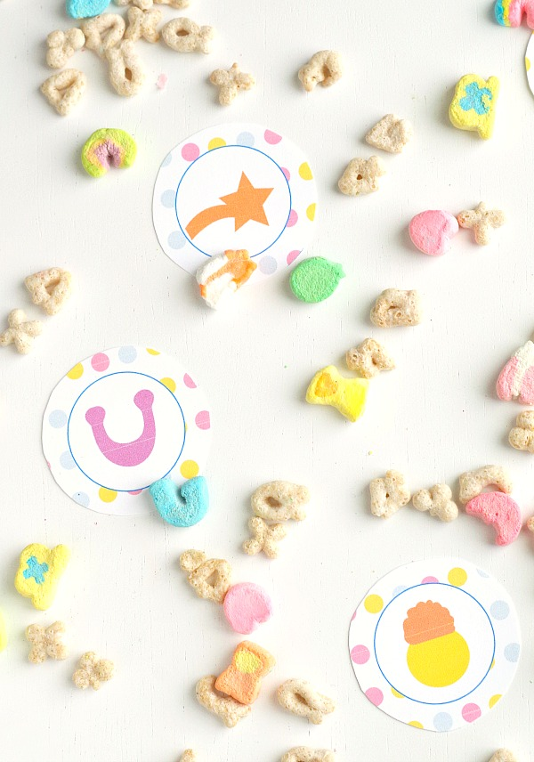 Lucky Charm Food Toppers Free Printable