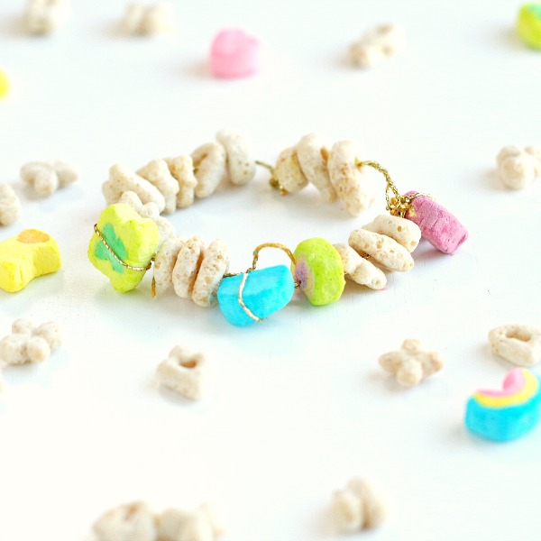 Edible Charm Bracelet with Lucky Charms