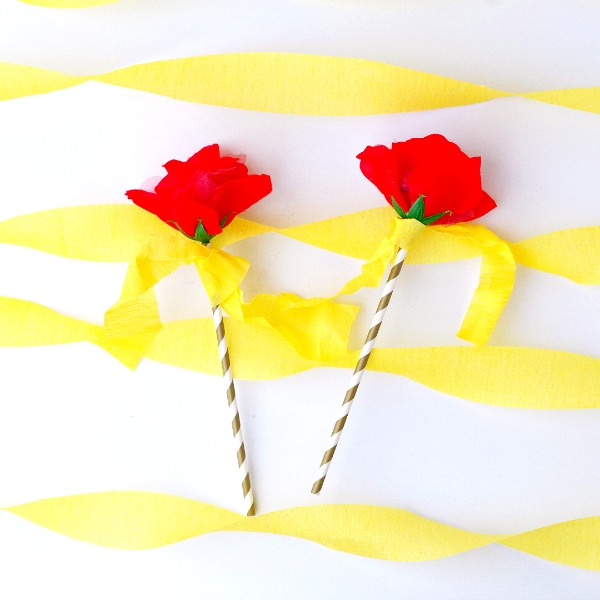 DIY Rose Flower Wands