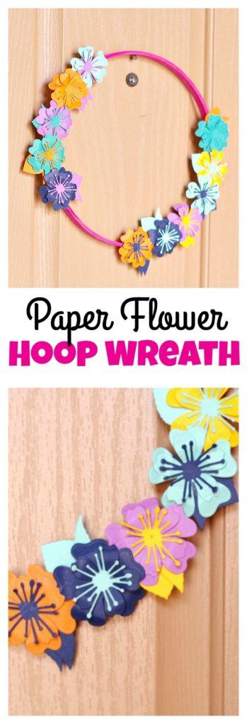 Paper Flower Hoop Wreath