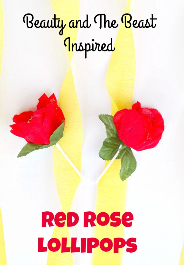 Beauty and The Beast Inspired Red Rose Lollipops