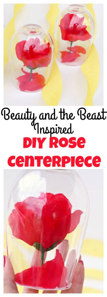 Beauty and the Beast Rose Centerpieces