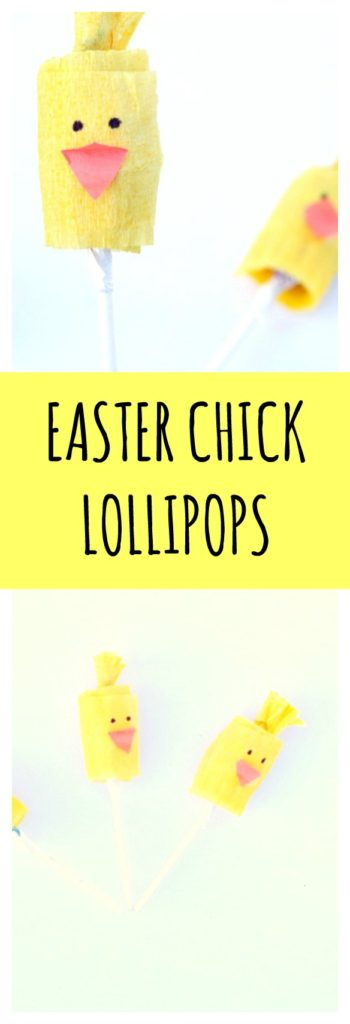 Easter Chick Lollipops
