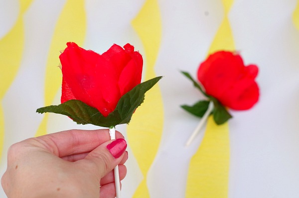 Pretty Red Rose Lollipop
