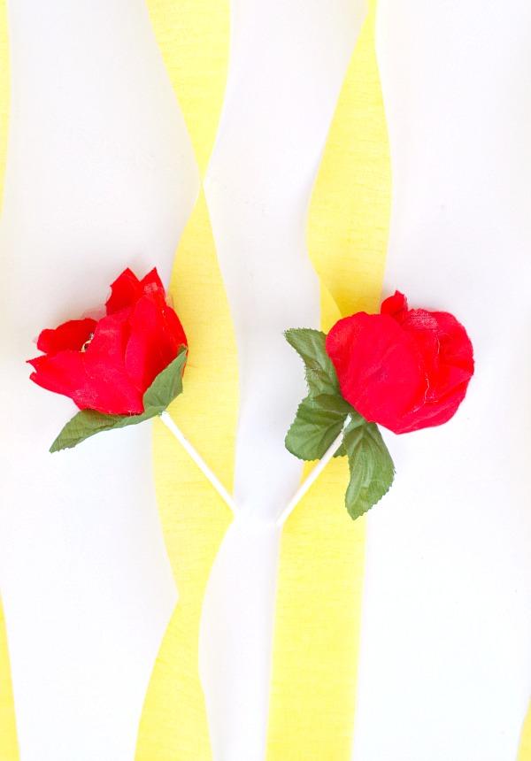 DIY Dollar Store Red Rose Lollipops