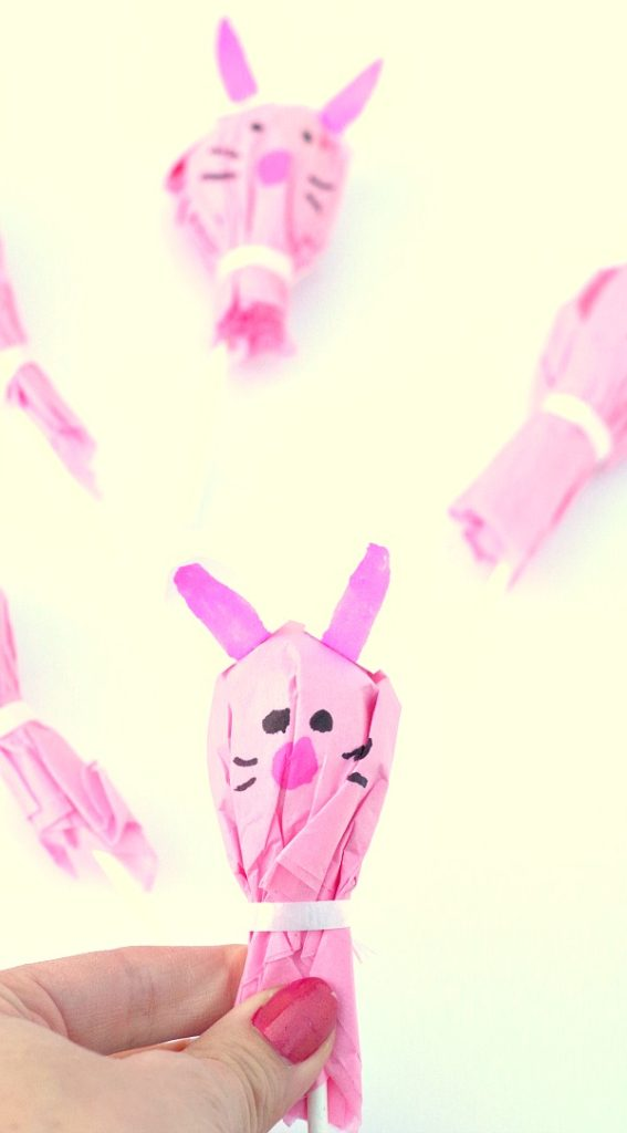 Bunny Lollipops for Easter