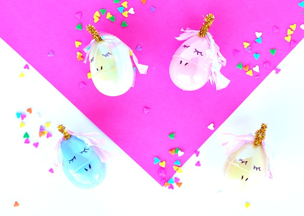 Easy Unicorn Easter Eggs