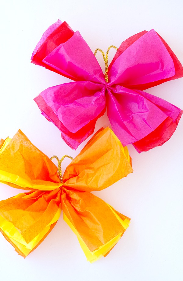 Easy Tissue Paper Butterflies