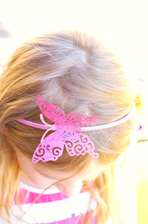 simple butterfly headband diy