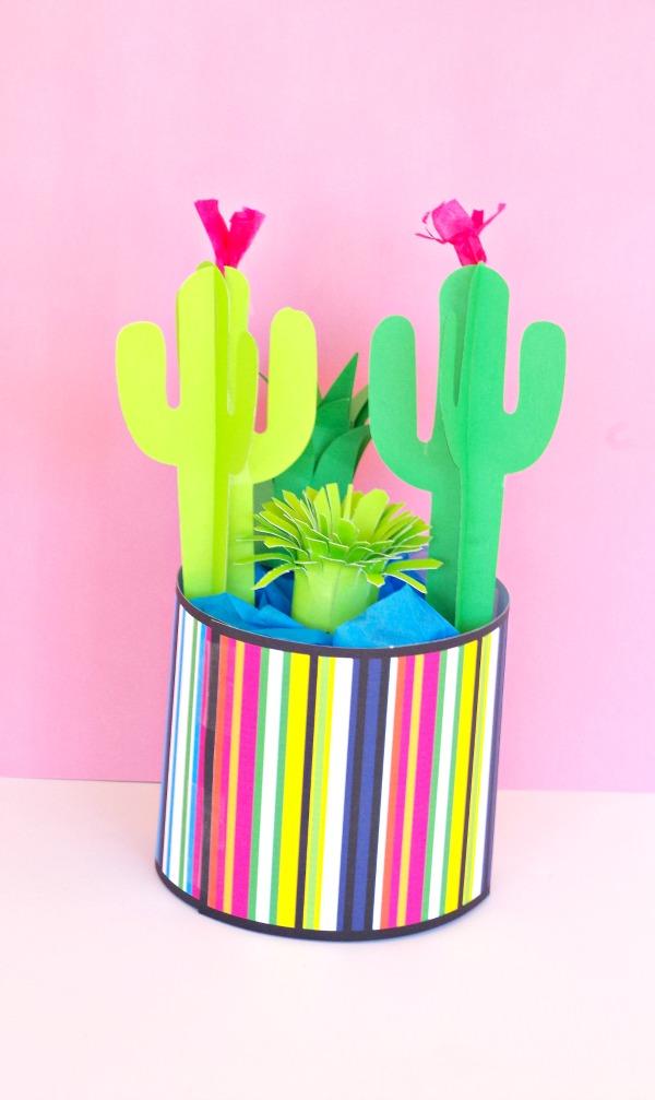 DIY Paper Cactus Garden