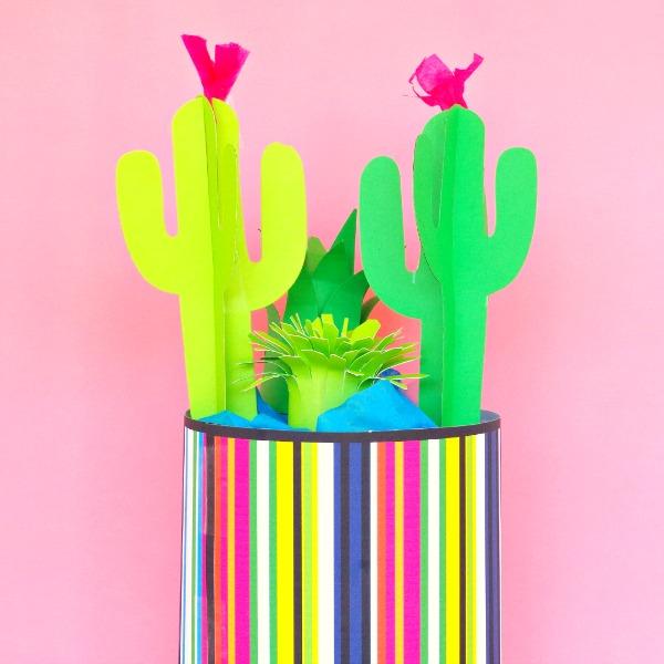 Paper cactus diy