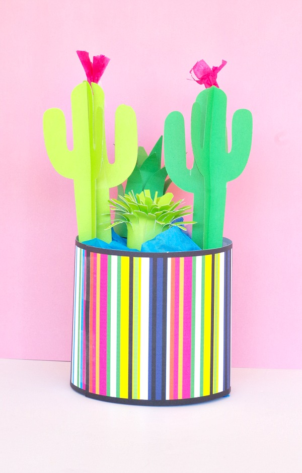 Simple Cactus Garden from paper
