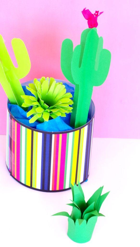 Pretty diy paper cactus garden