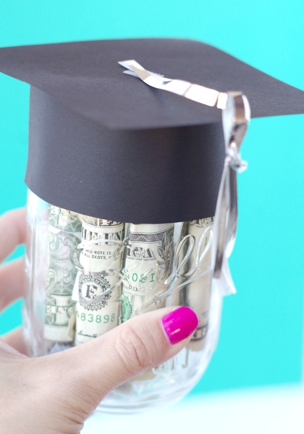 IGraduation Cap Mason Jar for Money Gift