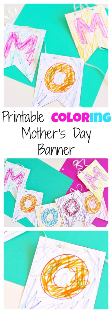 Printable Coloring Mother's Day MOOOOM Banner!