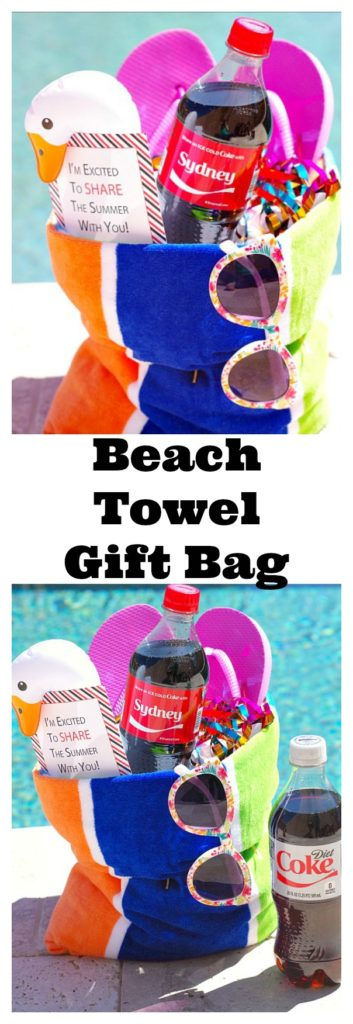 DIY Beach Towel Gift Bag