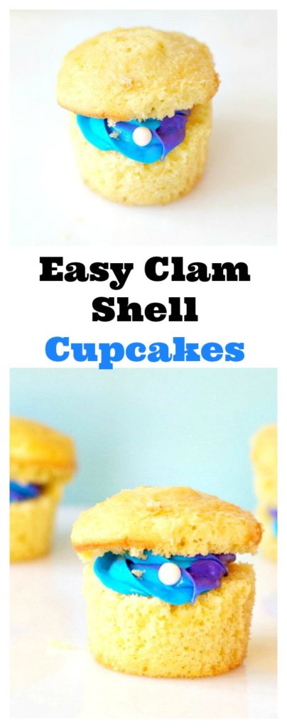 Easy Clam Shell Cupcakes