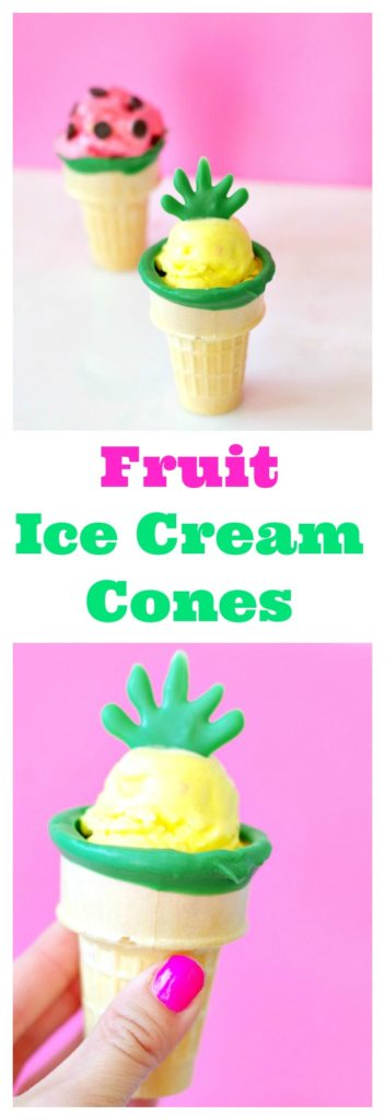 Fruit Ice Cream Cones