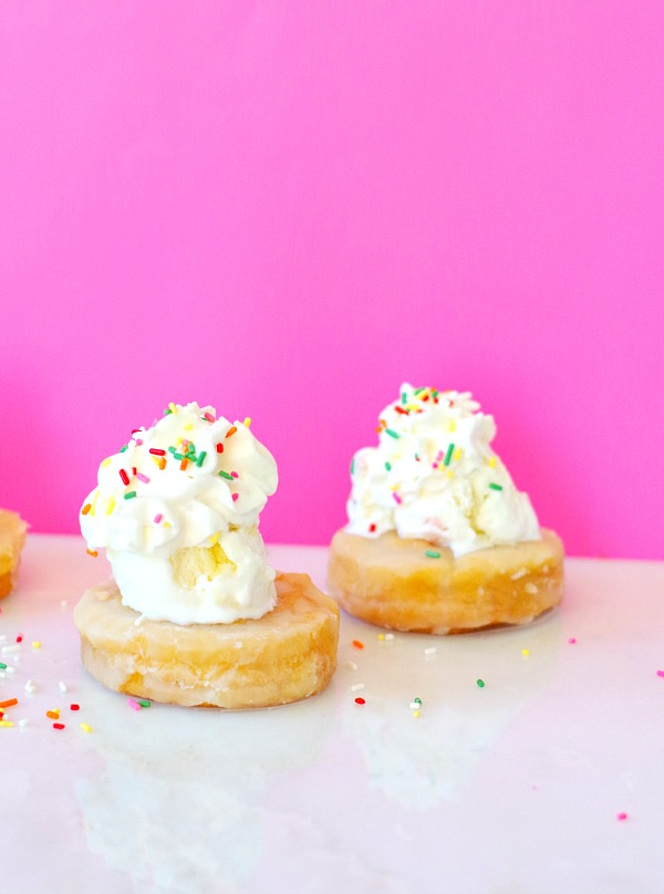 You can actually eat the bowl with these donut ice cream bowls