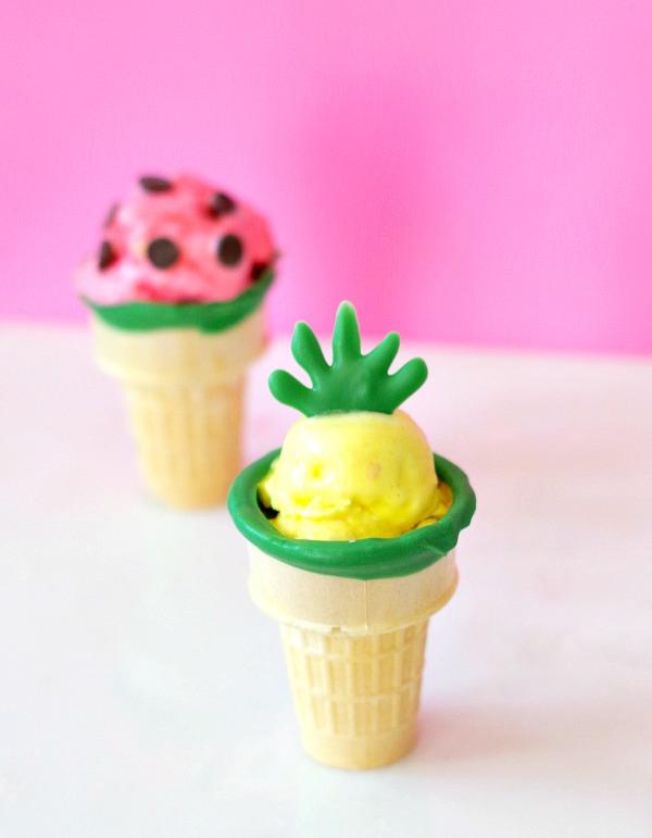 Fruit Ice Cream Cones for Summer