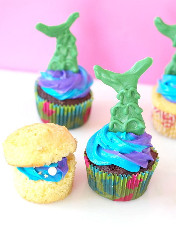 Mermaid cupcake treats!