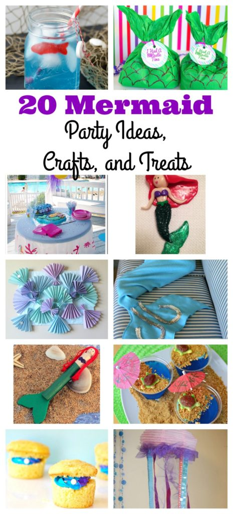 Mermaid Party Ideas, Crafts, and Treats