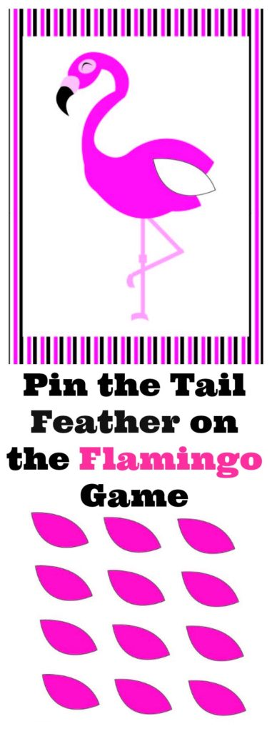 Pin The Tail Feather On The Flamingo Game