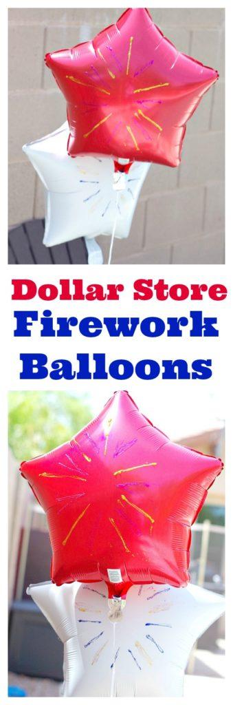 Dollar Store Firework Balloons