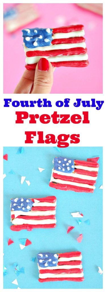 Fourth of July Pretzel Flags