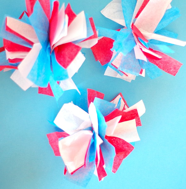 how to make tissue paper fireworks
