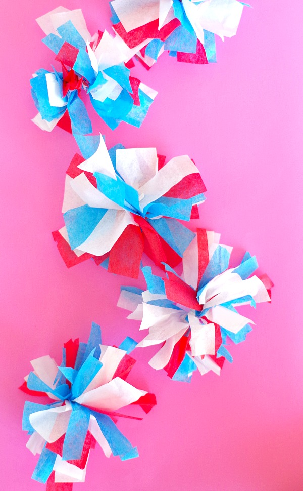 DIY Tissue Paper Firework Decorations