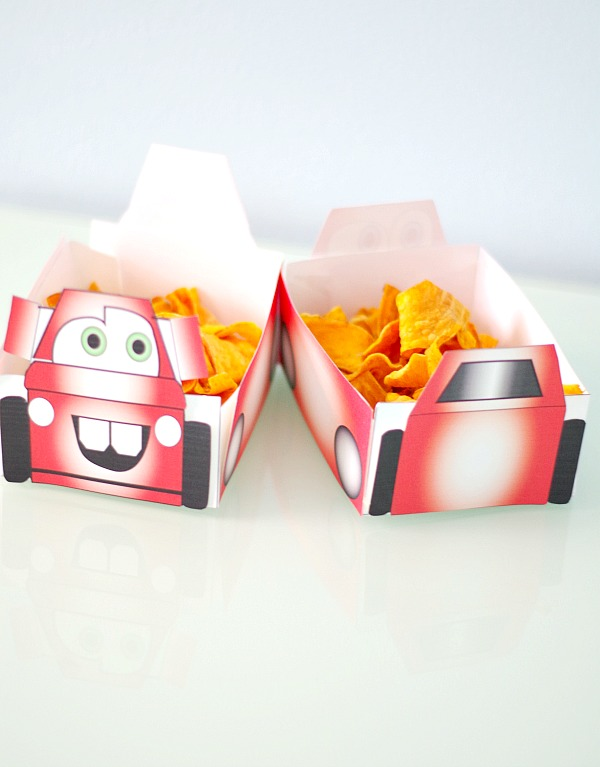 Cars Snack Boxes Printables