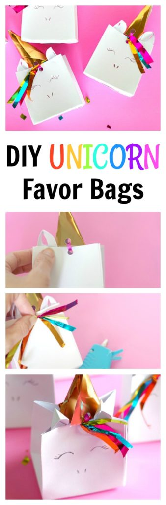 DIY Unicorn Favor Bags