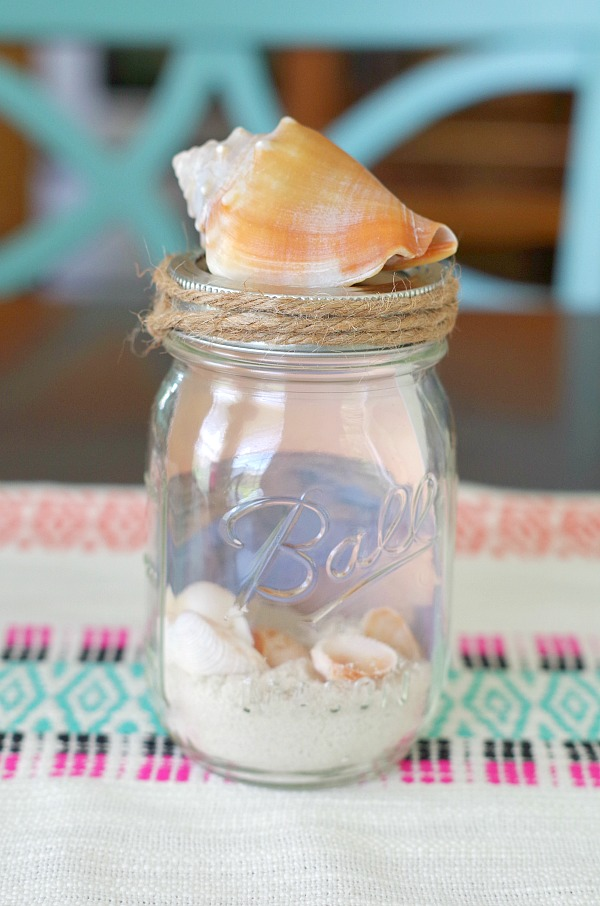 DIY Beach Mason Jar