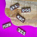 Back To School Chocolate Bars