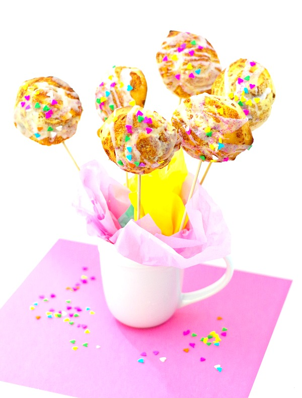 Colorful Cinnamon Roll Bouquet