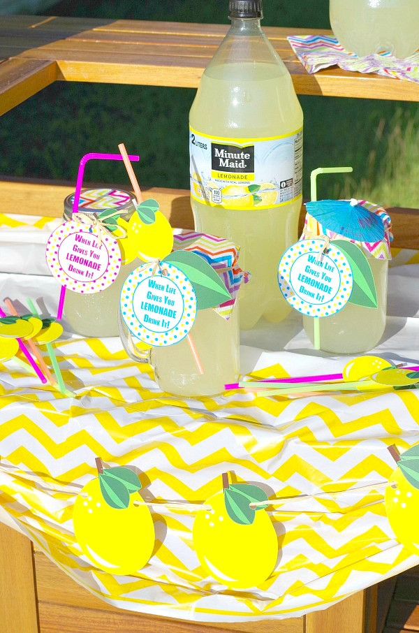 Lemonade Stand with To Go Cups and Printable
