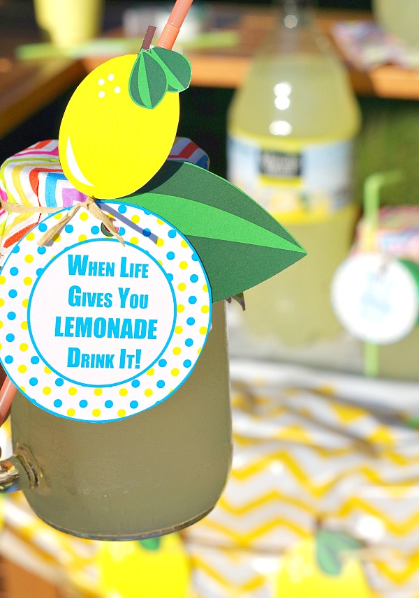 When life gives you lemonade drink tag