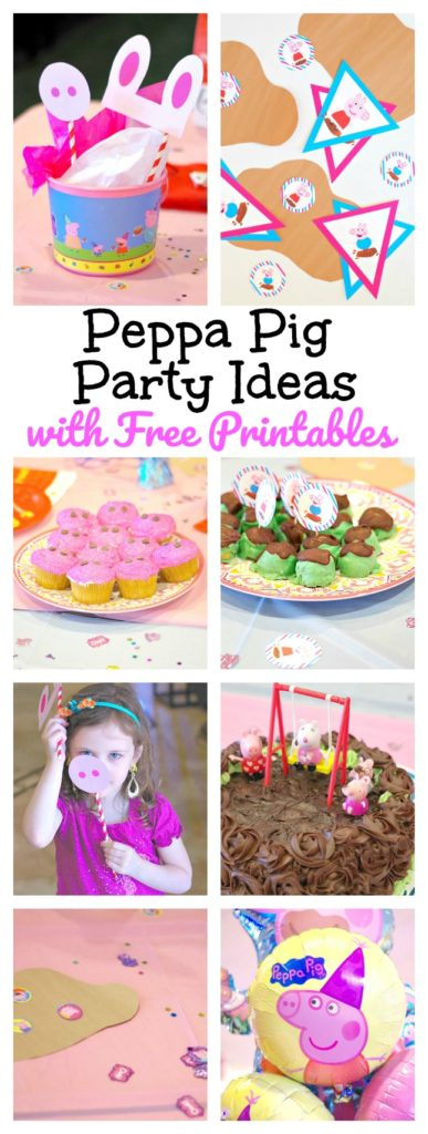 Peppa Pig Party Ideas with Free Printables