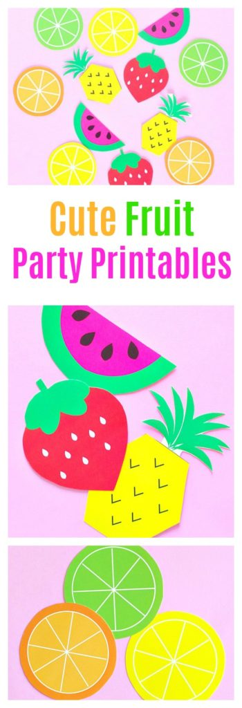Cute Fruit Party Printables