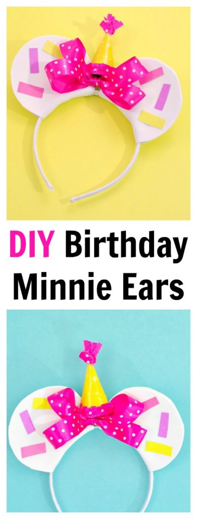 DIY Birthday Minnie Ears