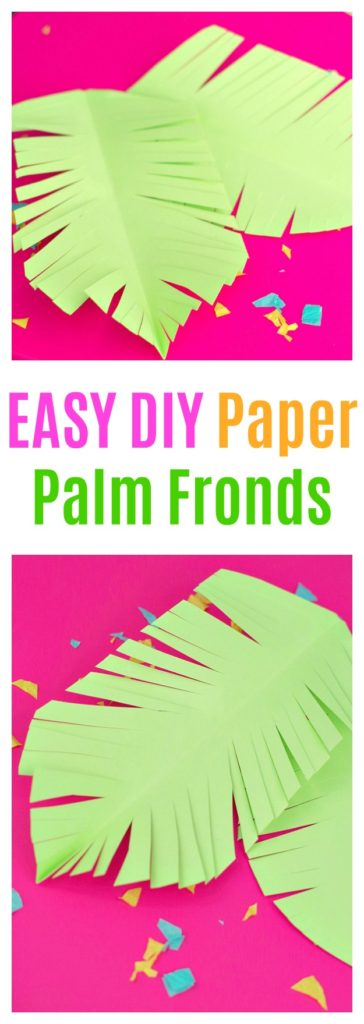 EASY DIY Paper Palm Fronds