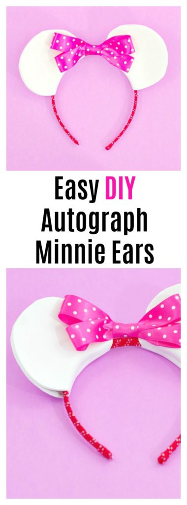 Easy DIY Autograph Minnie Ears