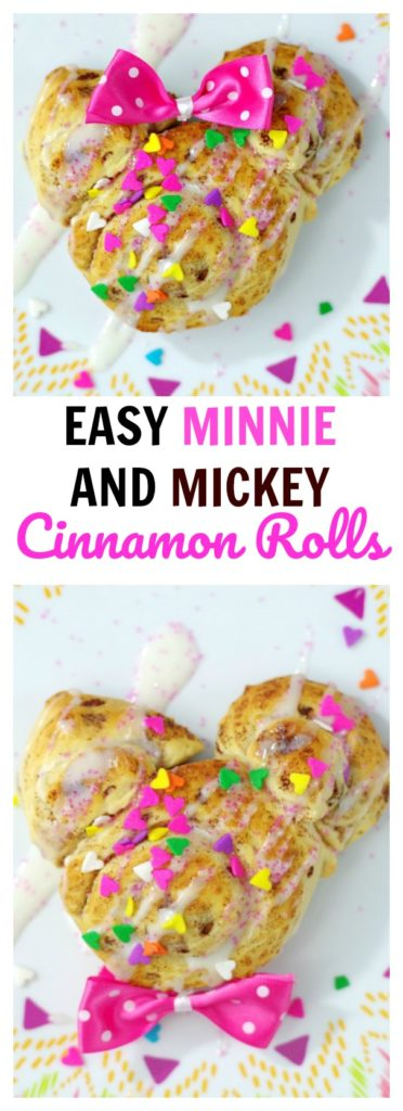 Easy Minnie and Mickey Cinnamon Rolls