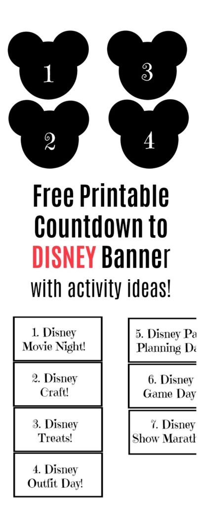 Free Printable Countdown to Disney Banner
